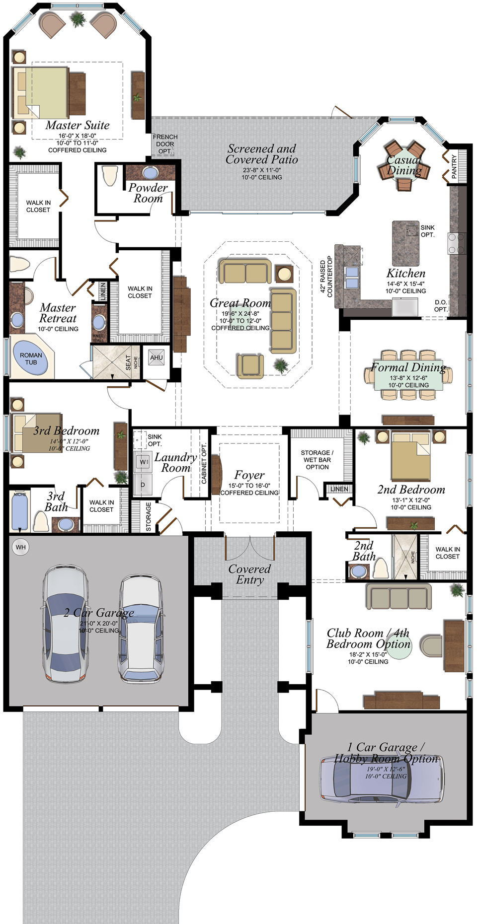 The Carlyle Plan In The Royal Collection At Valencia Lakes In Tampa Florida Florida Real Estate Gl Home House Blueprints Modern House Plans New House Plans