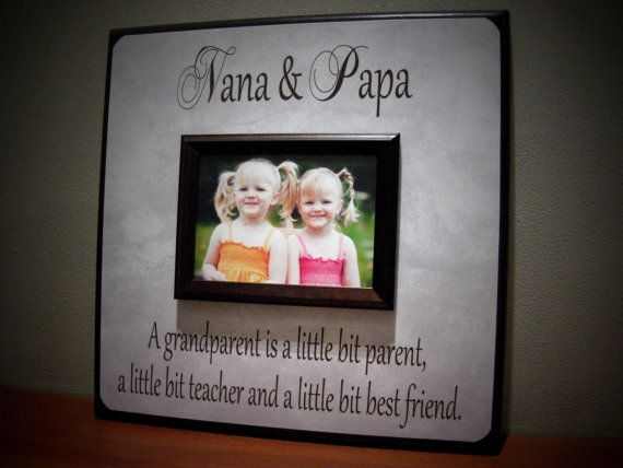 Personalized Grandparents Picture Frame Nana Papa Grandma