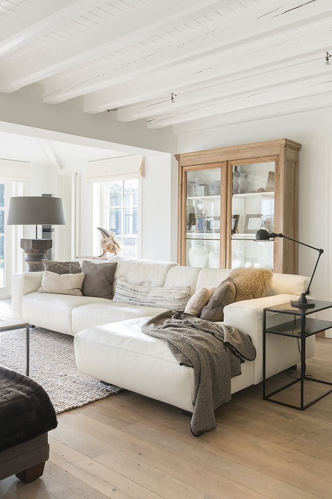 Ceiling- mini lap and white beams. Tie in natural elements like the ...