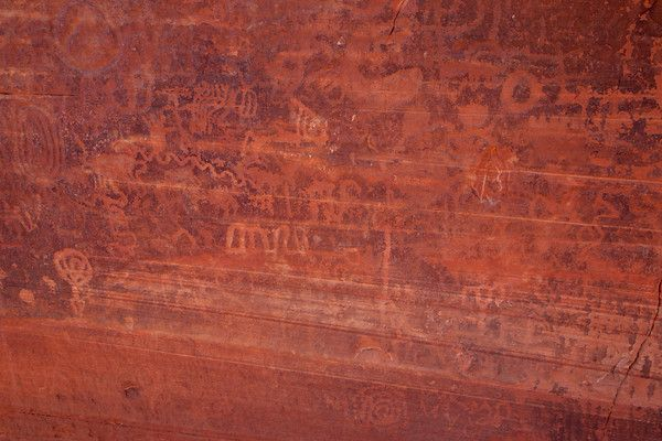 Snow Canyon petroglyphs in Snow Canyon State park near St. George, Utah