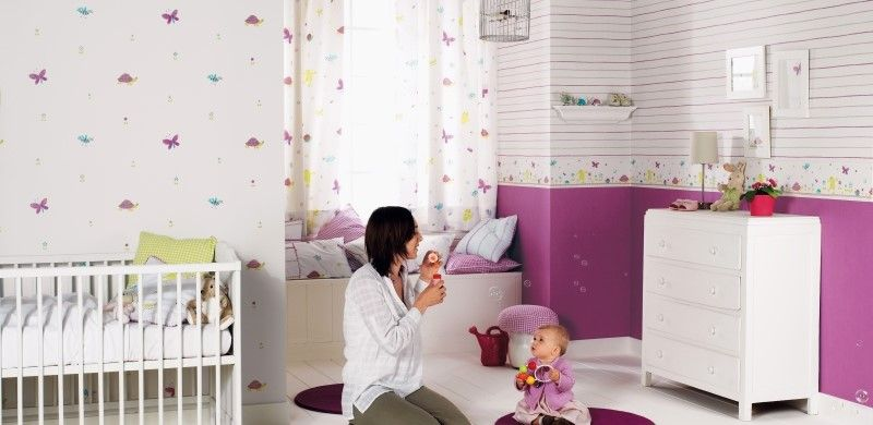 fantasyroom babyzimmer und kinderzimmer in lila flieder. Black Bedroom Furniture Sets. Home Design Ideas