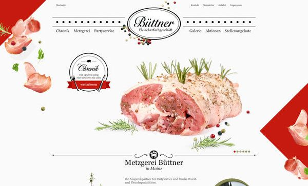 Websites Metzgerei Buttner In Mainz Designspiration Restaurant Website Creative Websites Mainz