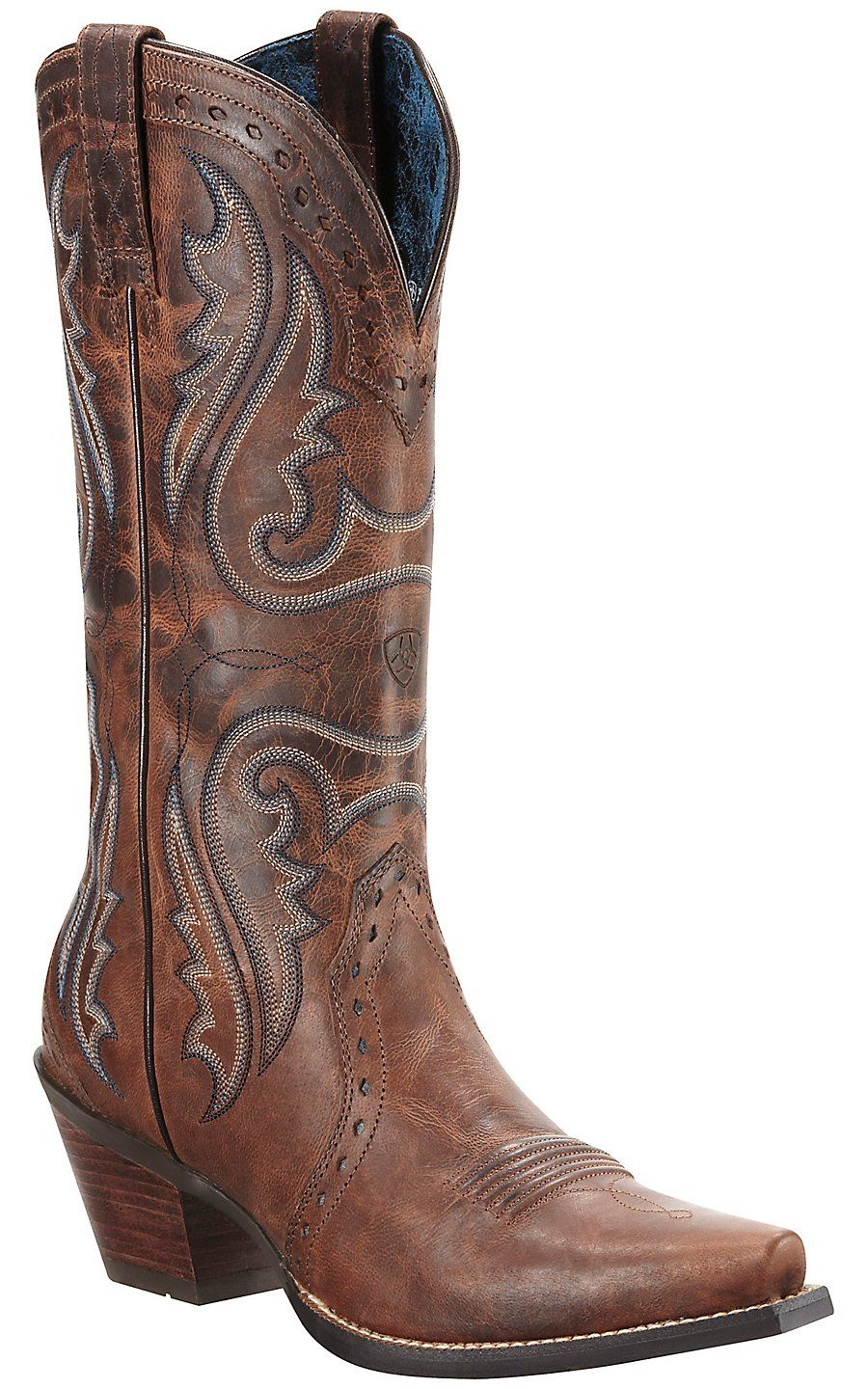 This is a great cowboy boot if you're looking for a classic brown ...