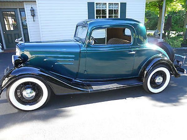 Chevrolet: STANDARD COUPE 1934 chevy 3 window coupe all