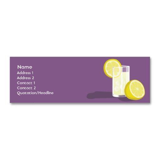 Lemonade Skinny Mini Business Card Zazzle Com Printing Business Cards Mini Business Card Business Card Template