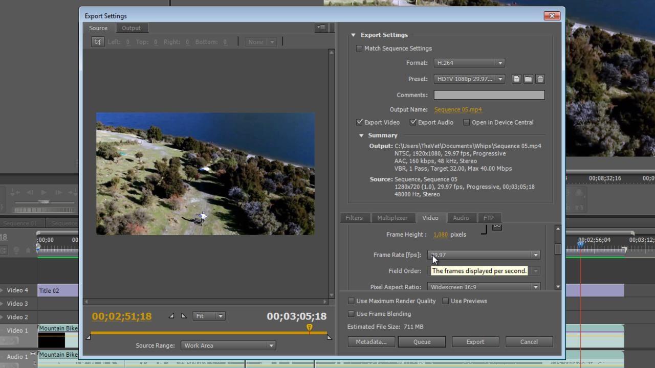 adobe premiere pro cs best export settings 1080p youtube vimeo hd