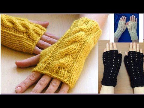 Cómo Tejer Mitones-How to Knit Mittens 2 Agujas (326) - YouTube ...