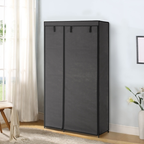 buy here ikayaa portable fabric closet wardrobe cabinet storage organizer clothes