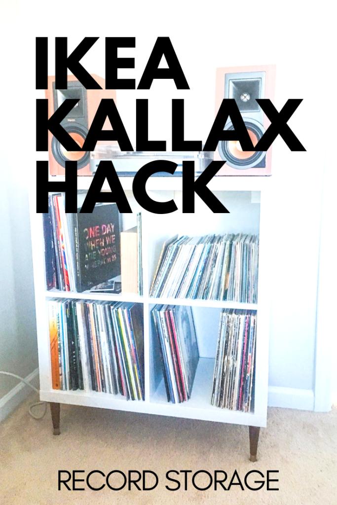 Ikea Kallax Hack Record Player Stand Storage Vinyl Record