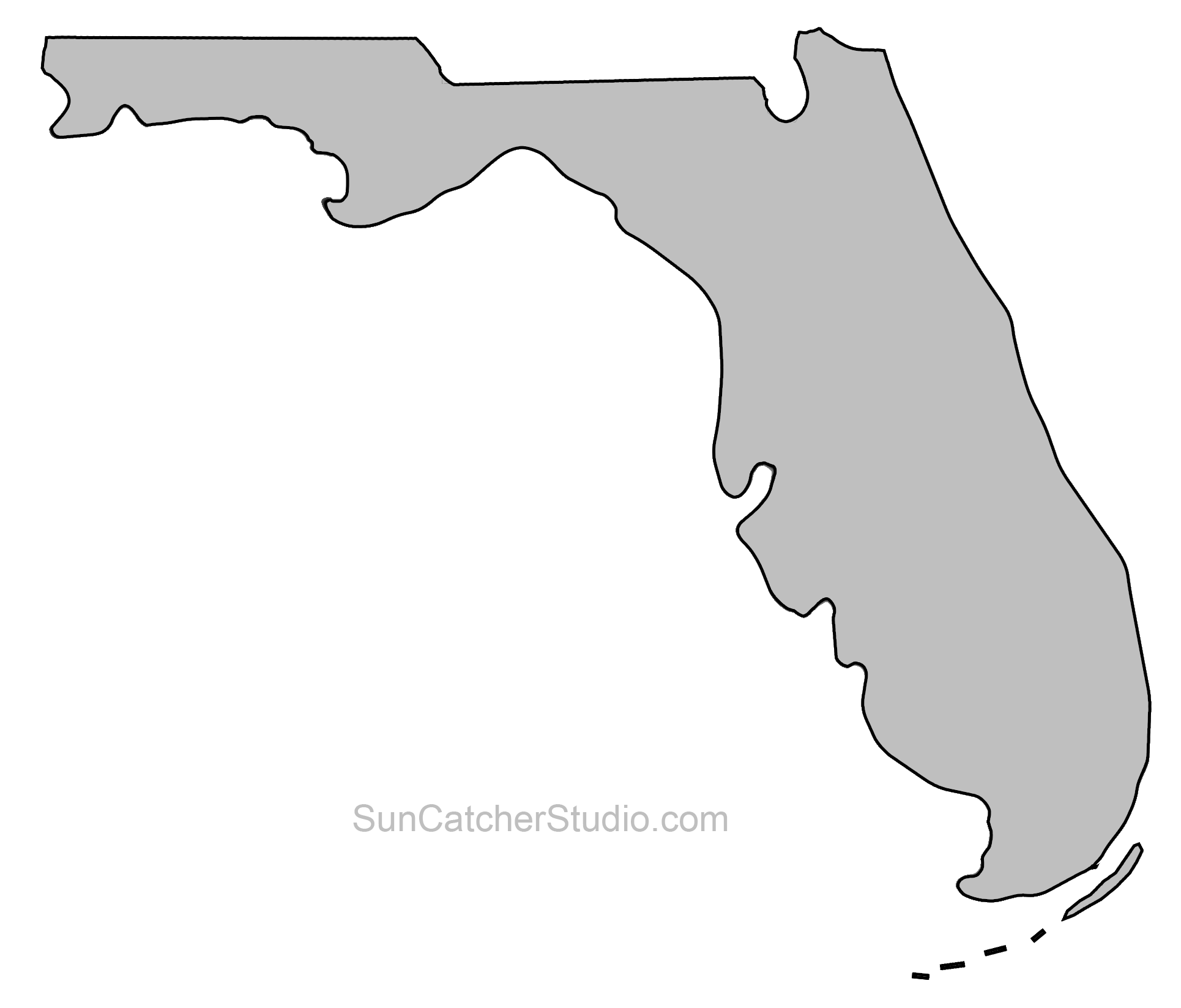 State Outlines Maps Stencils Patterns Clip Art All 50 States Map Of Florida Florida Outline Map Outline