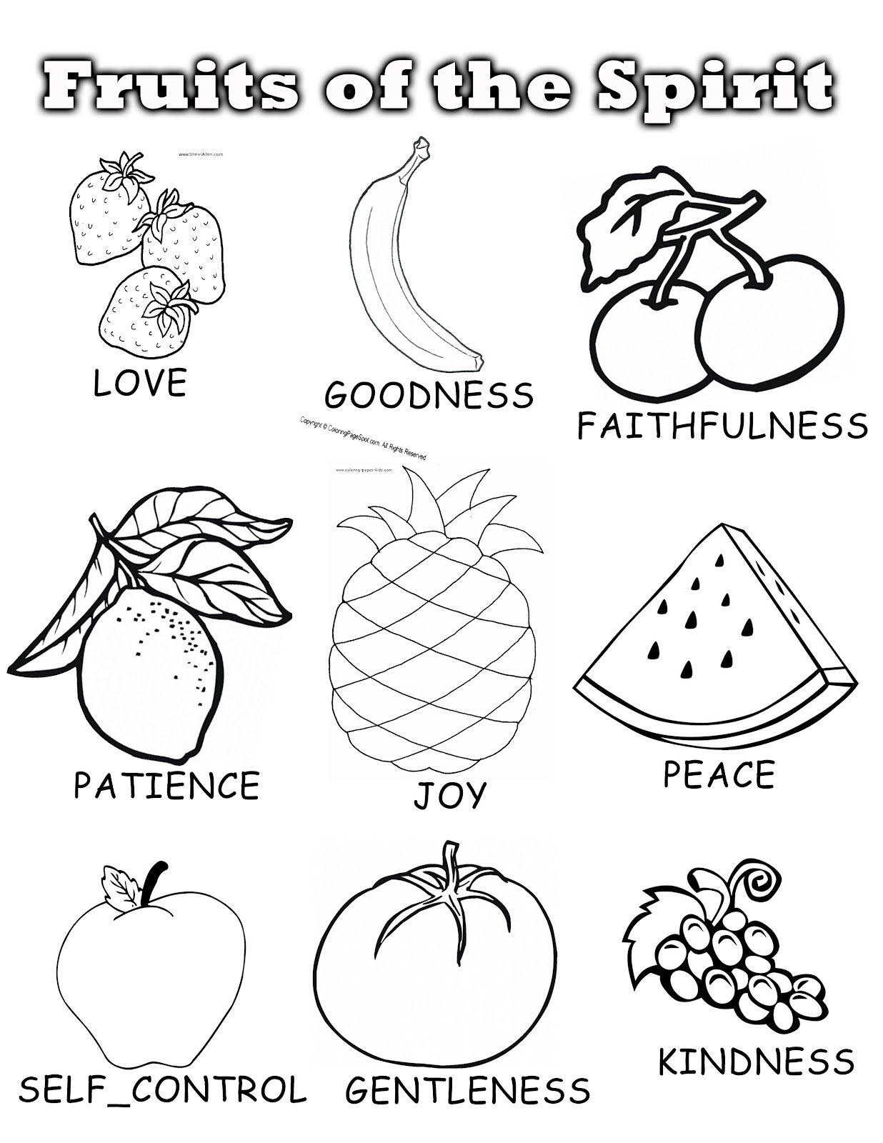 Fruits Of The Spirit Sunday School Unit Let Each Child