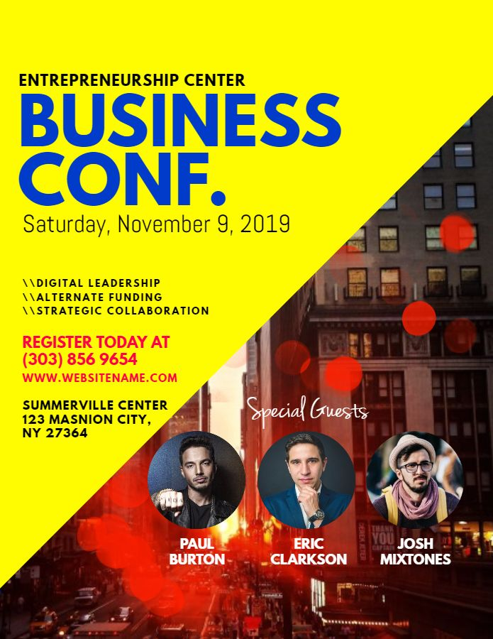 business conference flyer design template corporate flyer
