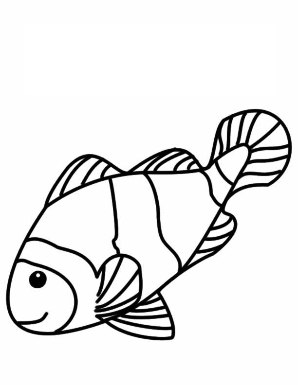 clown fish coloring page  Class ideas  Pinterest  Coloring