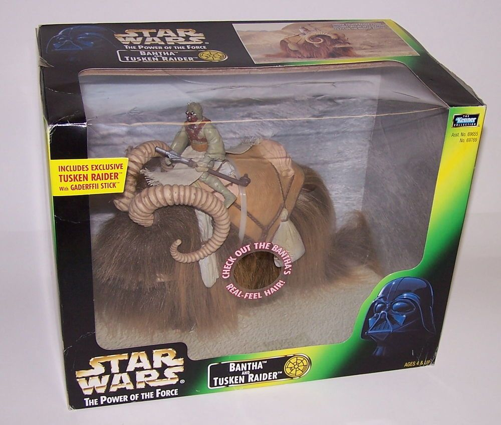 Bantha /& Tusken Raider 1998 STAR WARS POTF Power of the Force MIB