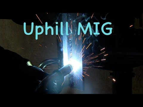 Vertical MIG Welding Lesson Uphill \ Downhill Techniques (Teach - new blueprint book for welders