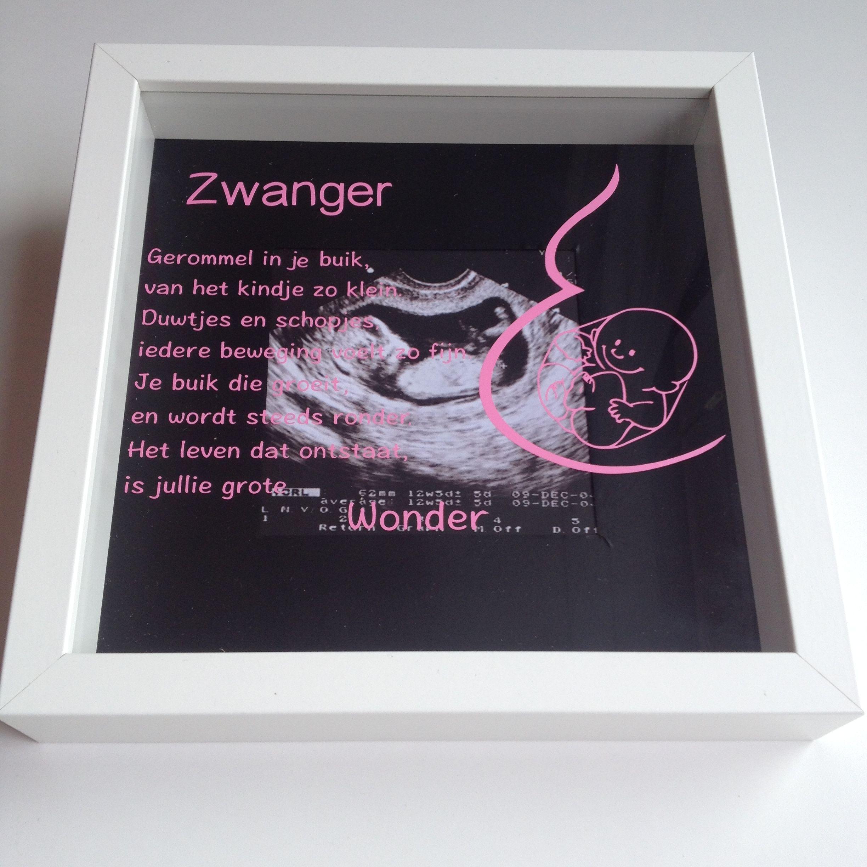 Geliefde 3D lijst zwanger. Origineel kado voor een zwangere vriendin | 3D #QT11