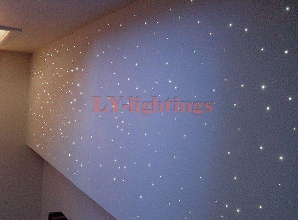 Diy Optic Fiber Light Kit 25w Light 250pcsx0 75mmx2 5m Optical Fibres Rgb Color Change Color Remote Sky L Star Lights On Ceiling Led Light Box Star Ceiling