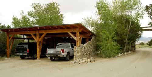 Rustic Car Ports You Can See The Carport To Your