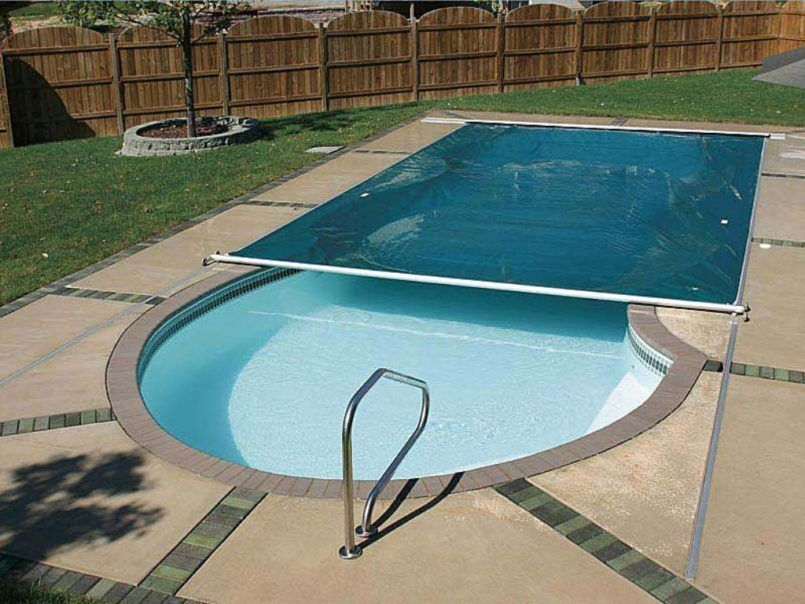Swiming pools outdoor flooring options with patio for Garden pool covers