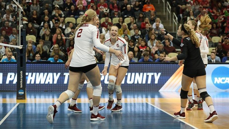 Champions Again Stanford University Athletics In 2020 Stanford Volleyball Women Volleyball Volleyball