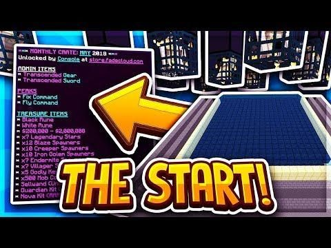 THE BEST START POSSIBLE Minecraft Factions Ep Fadecloud - Minecraft bedwars spielen ps4
