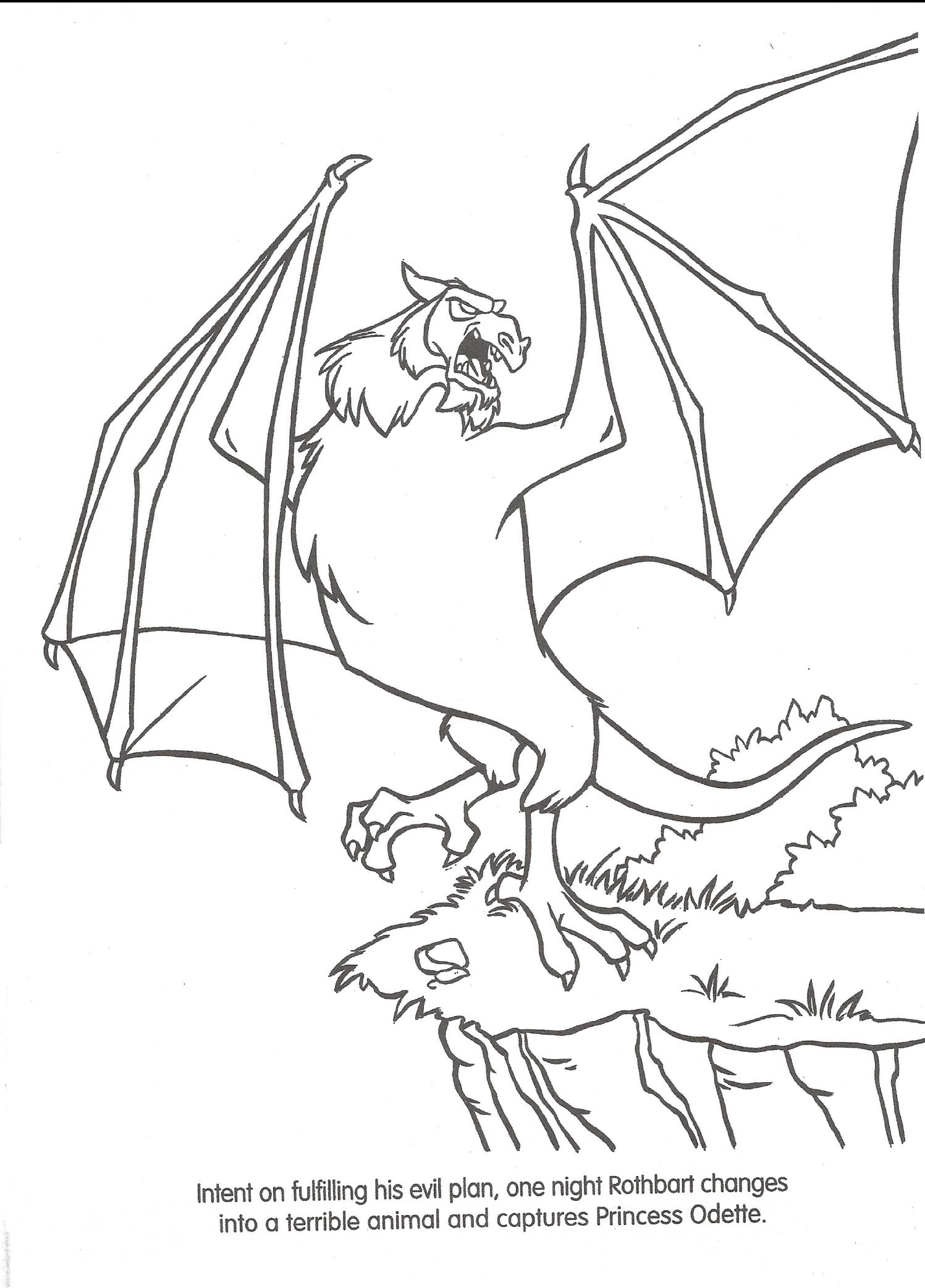 Swan princess coloring pages free - Billedresultat For The Swan Princess Colouring Pages