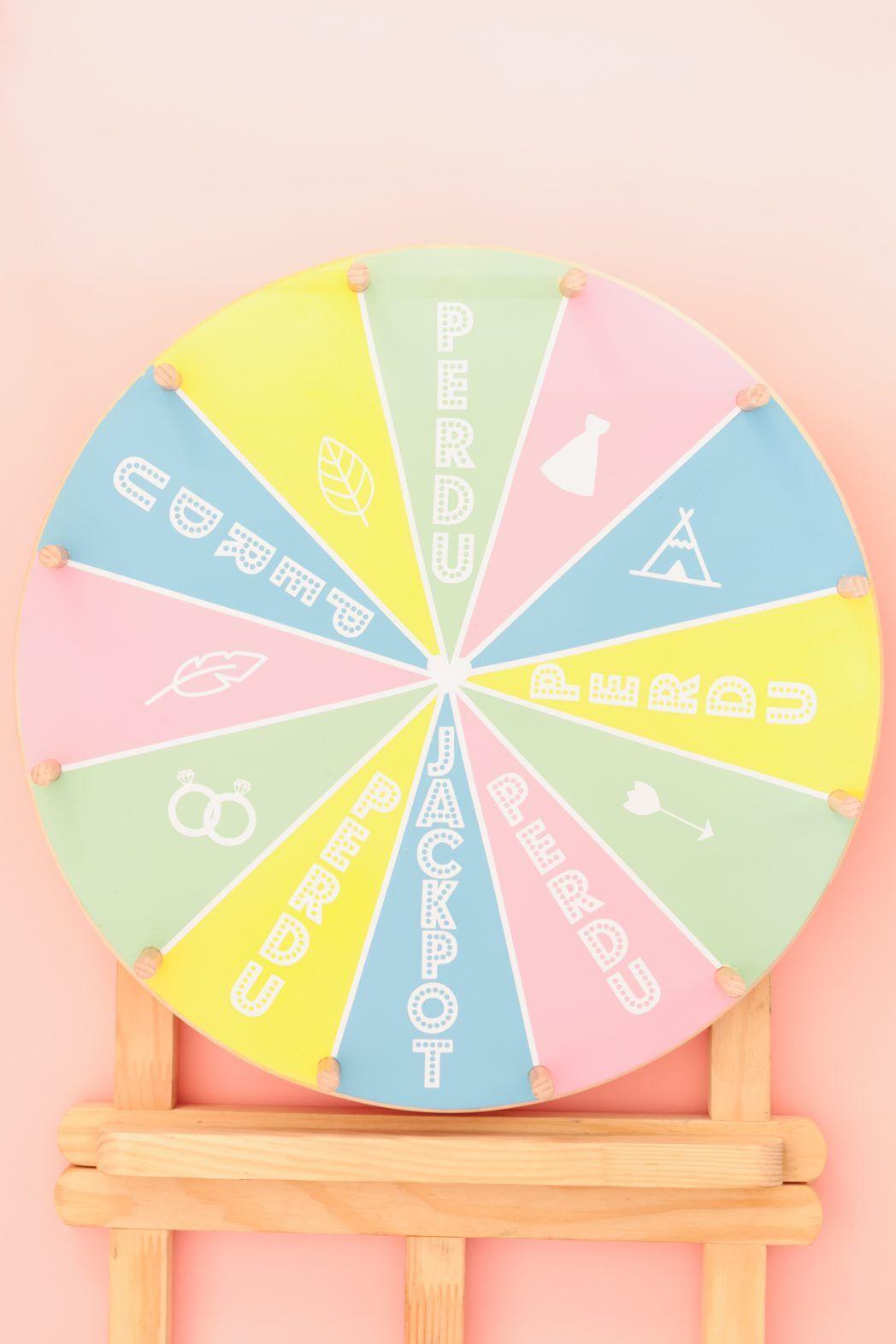 diy 75 la roue de la fortune wheel fortune tutorial id es pour la maison pinterest. Black Bedroom Furniture Sets. Home Design Ideas