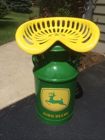 John Deere Seat I made from an old Tractor Seat and Milk Can & John Deere Seat I made from an old Tractor Seat and Milk Can ... islam-shia.org