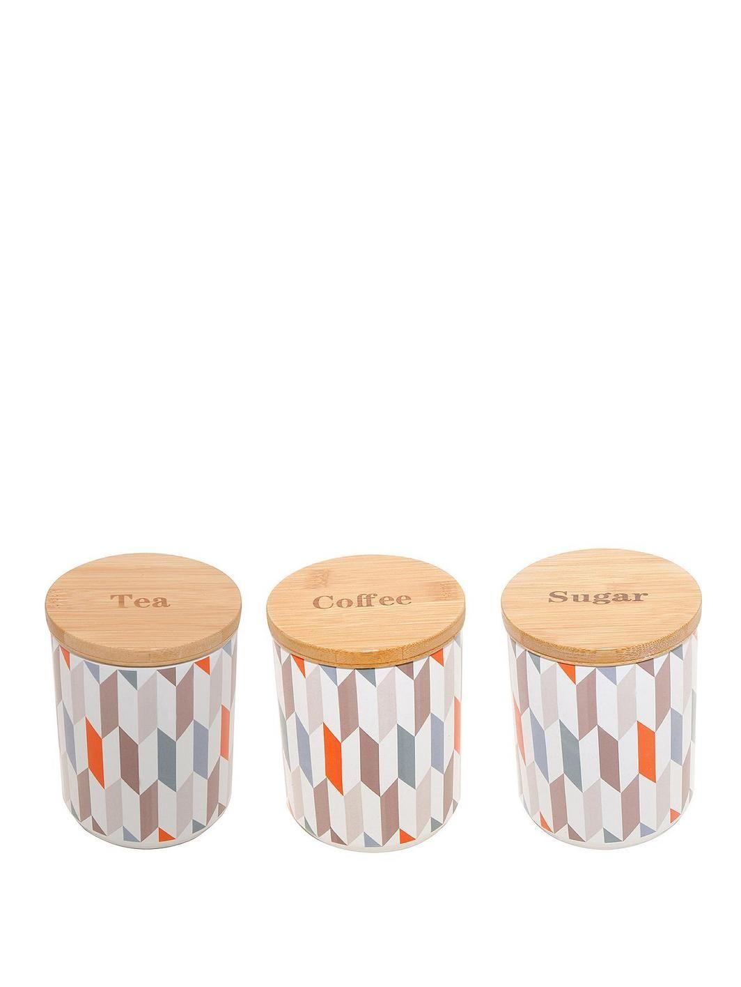 Geometric Tea Coffee And Sugar Canister Set Http Www Very Co Uk Price Kensington 1402801044 Prd