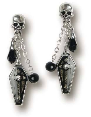 Gothic Coffin Skull Earrings Alchemy U K