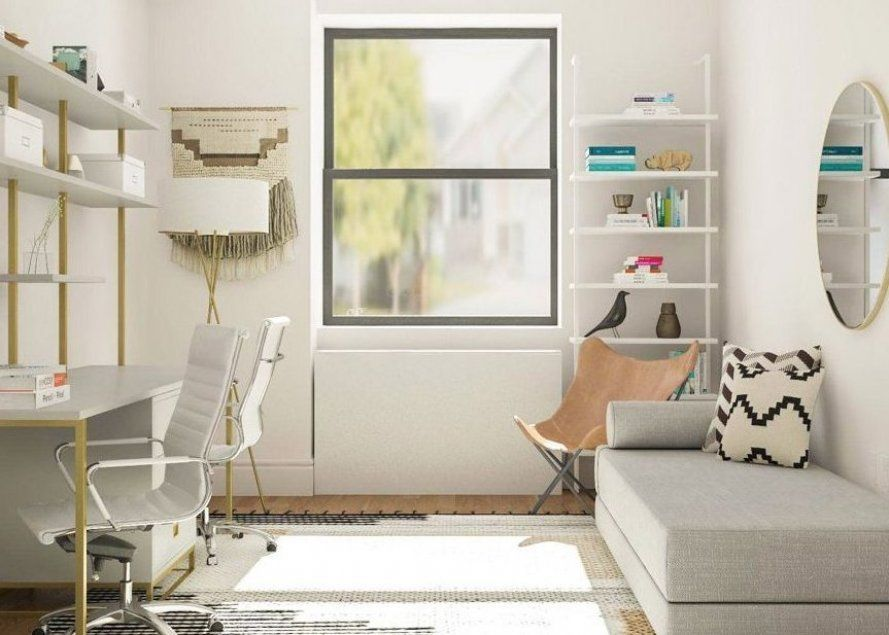 Simple Office Meets Guest Room Decorating Ideas Modsy Blog In