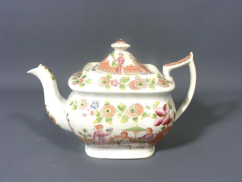 Antique Chinoiserie Teapot Oriental