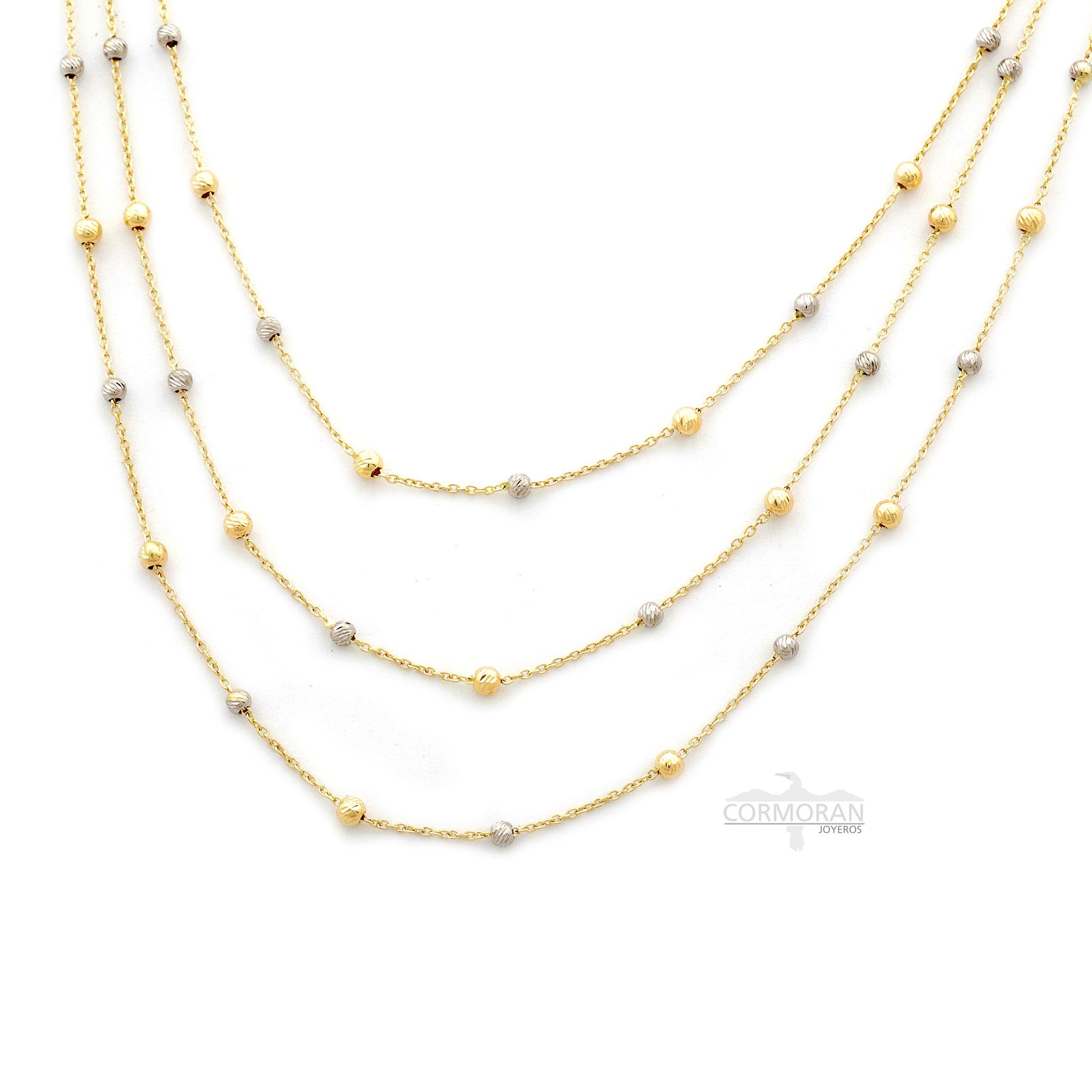 5a856fe5cc72 Exclusivo collar que fusiona oro blanco y oro amarillo de 18 quilates