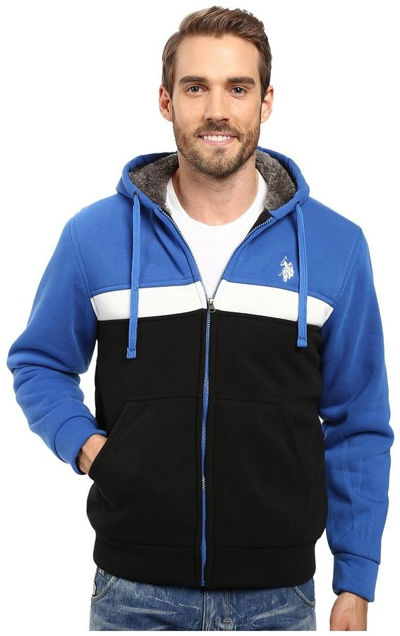 U.S. POLO ASSN. Color Block Fleece Hoodie  9a6c1265c1f