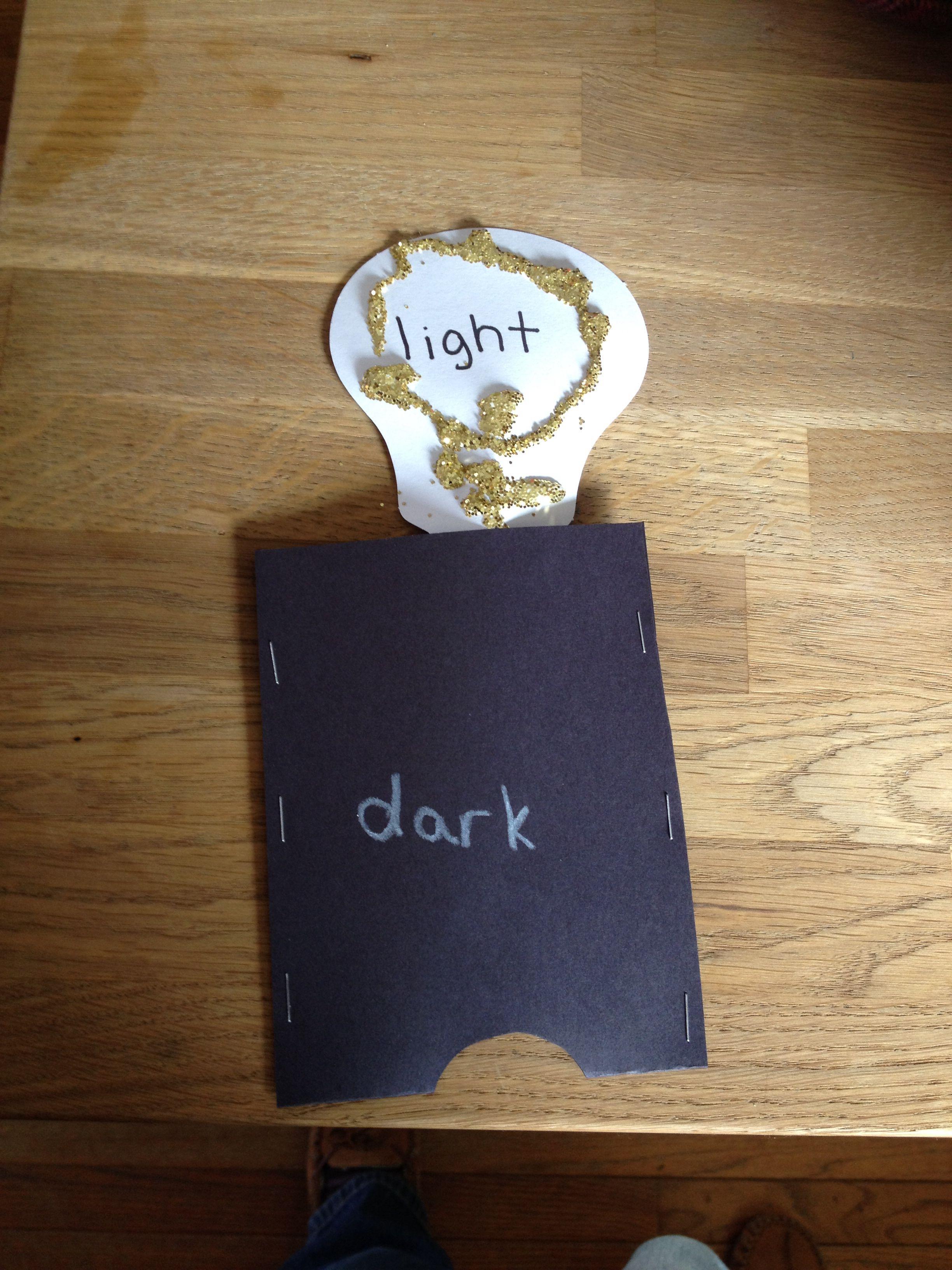 Saltmeadowacademy Preschool Craft Opposites Light And