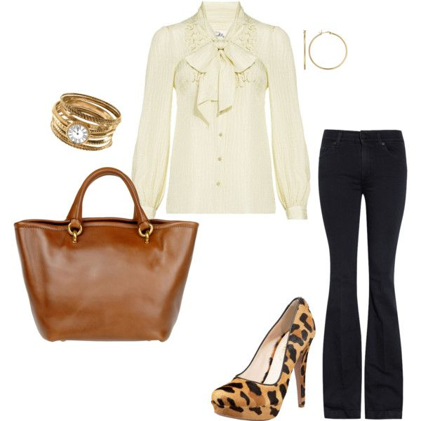 bows and gold, created by allthingschic on Polyvore