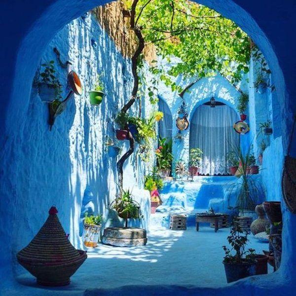 Les meilleures photos Pinterest La ville bleue du Maroc | Eh bien + bien   – Bluest Blue