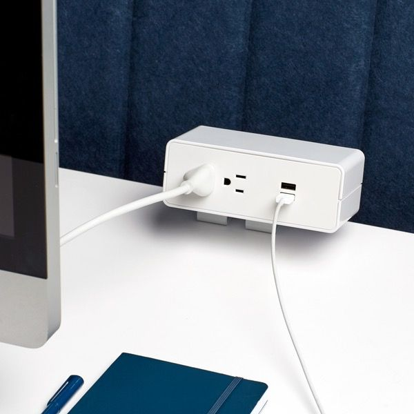 2 Outlet 2 Usb Port Desktop Power Outlet Accessories For Sit Stand Solutions Poppin Power Outlet Port Outlet
