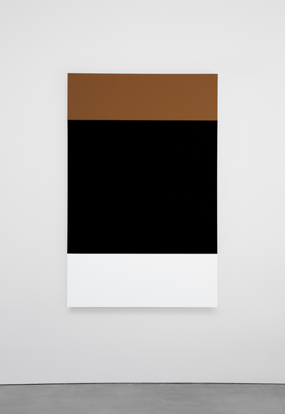 Ellsworth Kelly, Brown Black White 2013 Oil on canvas, three joined panels 70 1/4 x 45 1/8 inches; 178 x 115 cm