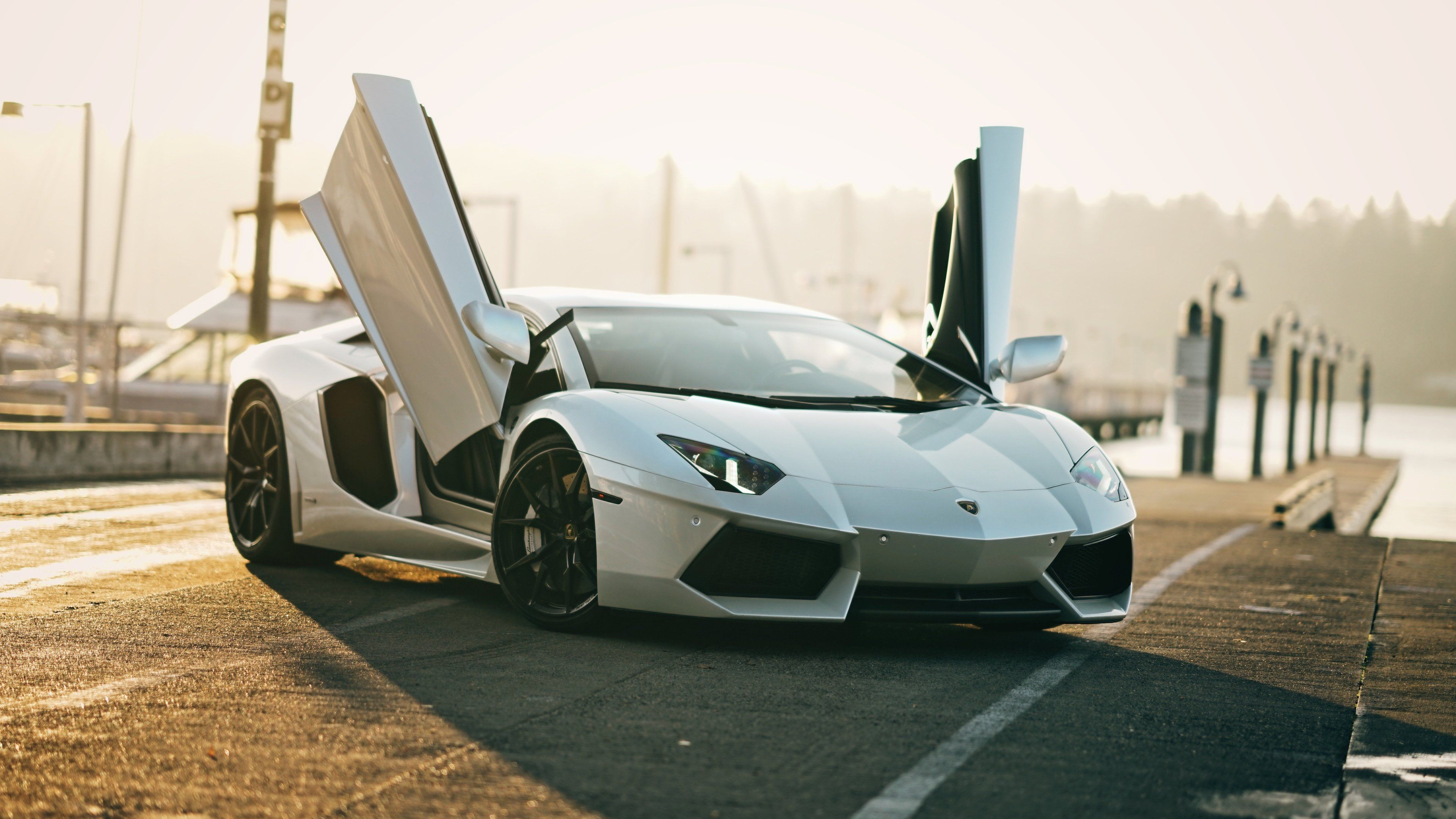 Wallpaper 4k 4k White Lamborghini Aventador 4k Wallpapers Cars