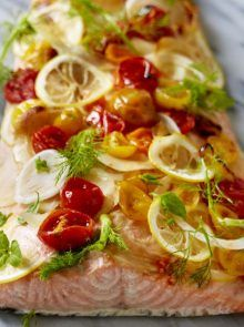 Photo of Oven Roasted Salmon With Fennel And Tomatoes | Dinner Recipes | Woman&home