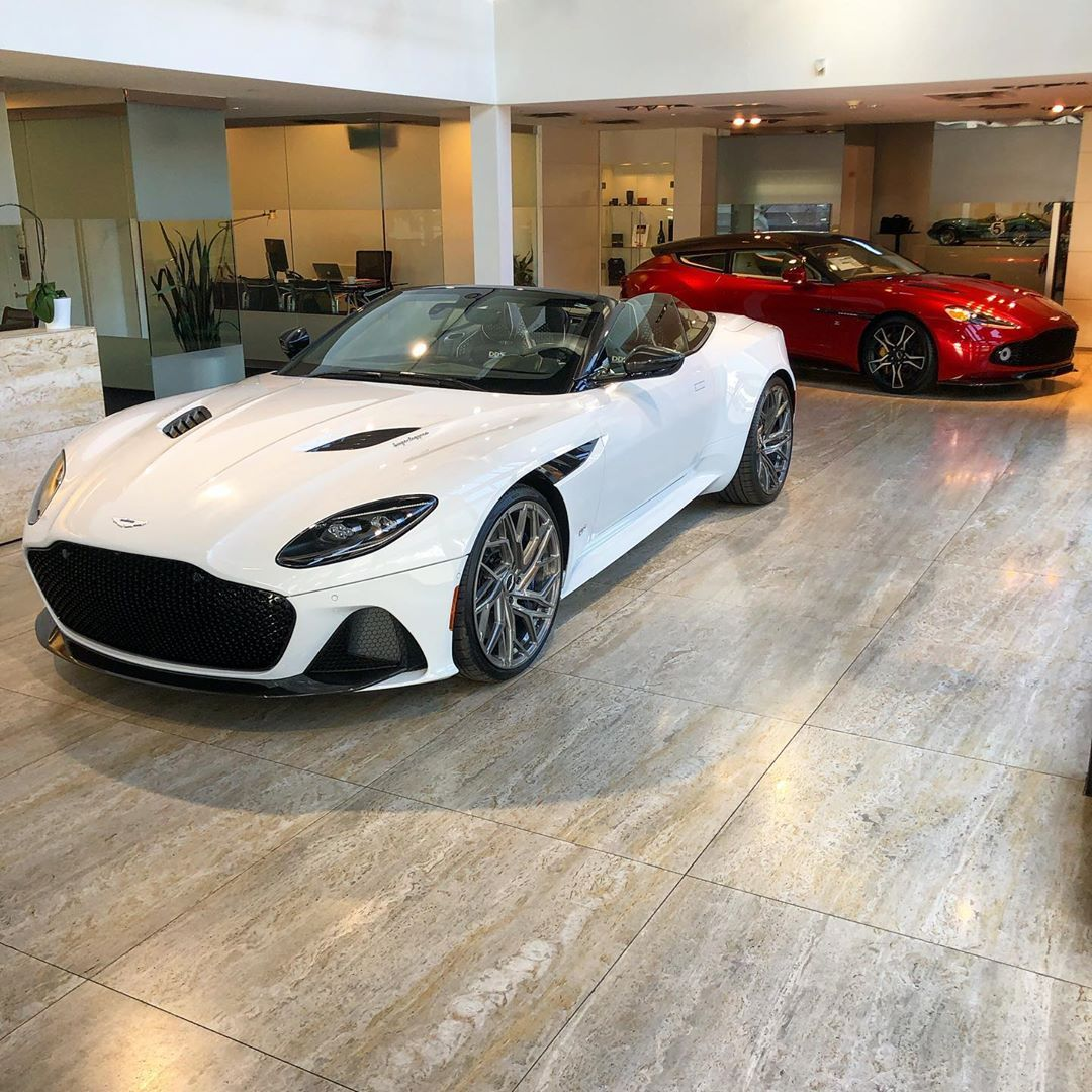 Aston Martin Of Dallas On Instagram One Crazy Duo Ready To Greet You Here At Aston Dallas Aston Martin Aston Martin Cars Alfa Cars
