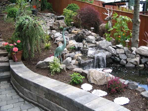 images about front water garden on, backyard garden water features, backyard garden waterfalls, backyard japanese water garden