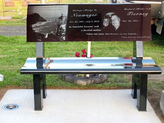 Gravestone Benches Part - 18: Laser Bench As A Memorial Placed In The Cemetery