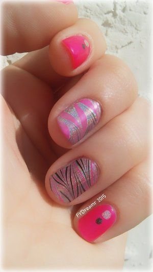Water marbling with China Glaze, OPI, and KB Shimmer polishes :)