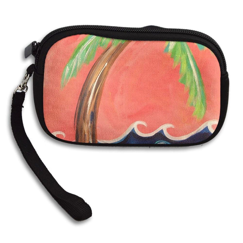 Zipper Small Wallet Coconut Tree Women\'s Purse Porte-monnaie Clutch ...
