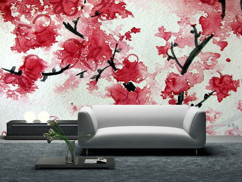 Cherry blossom wallpaper mural wallpaper pinterest for Cherry blossom wallpaper mural