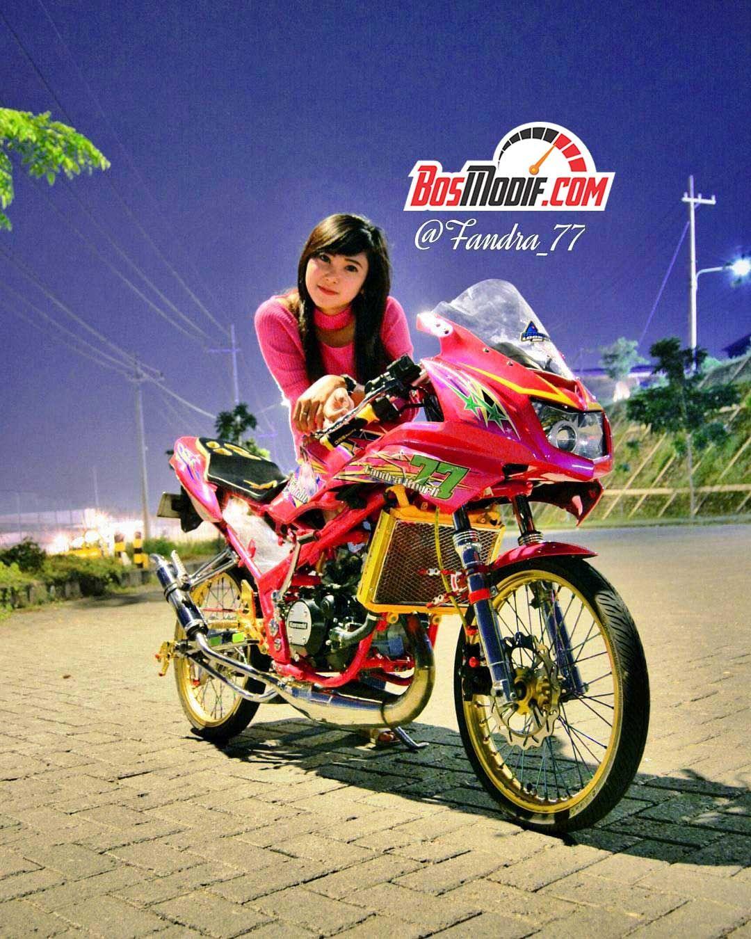 30 Foto Gambar Modifikasi Motor Kawasaki Ninja Dan Cewek Warna
