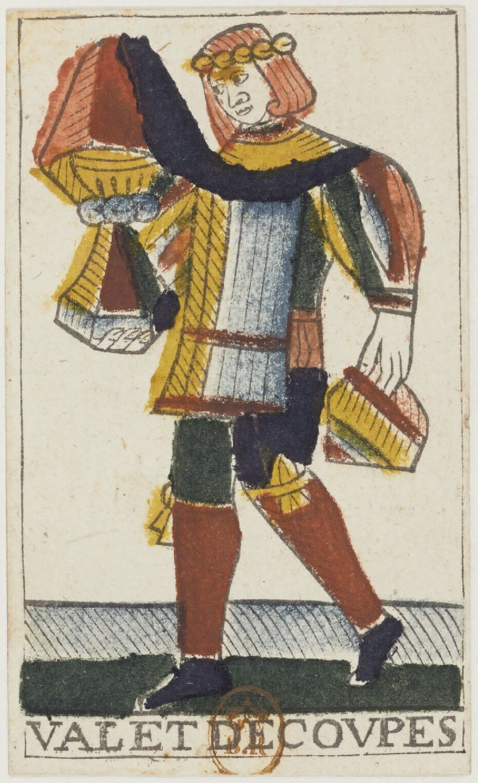 Jean Noblet 1659 Suit Of Cups Valet Tarot Decks Tarot Painting