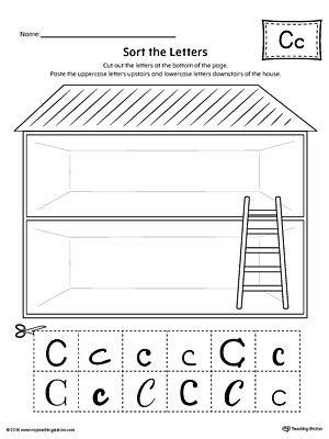Sort the Uppercase and Lowercase Letter C Worksheet Worksheet.Practice identifying the uppercase and lowercase letter C in this sorting printable worksheet.